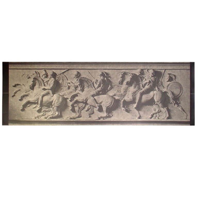 Large Photographic Print of Bas Relief Parthenon Frieze HEIGHT:39.25 in. (100 cm) WIDTH:10 ft. 5.3 in. (318 cm)
