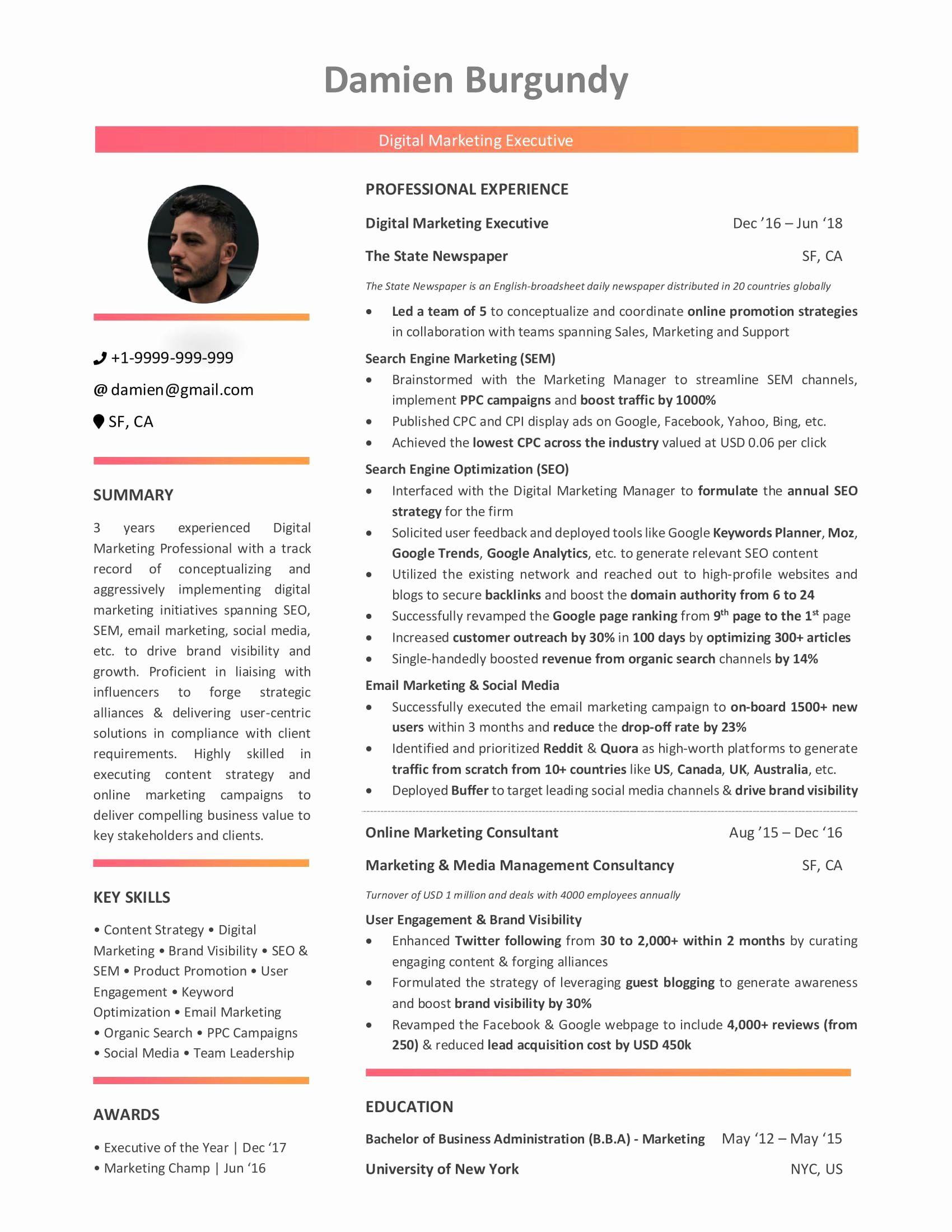 Entry Level Marketing Resume Awesome Digital Marketing Resume 10 Step Beginner S Guide With Marketing Resume Digital Marketing Manager Resume