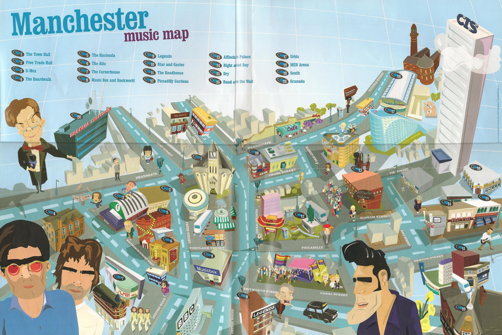 MapCarte 205365 Manchester Music Map by CreativeLynx