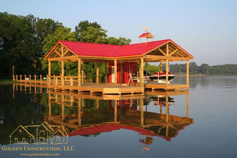 Buy Dock Plans Catch Of The Day Lakehouse Ideas Custom Dock And Pier Designs By Golden Construction Lakefront Living Lake House House Boat