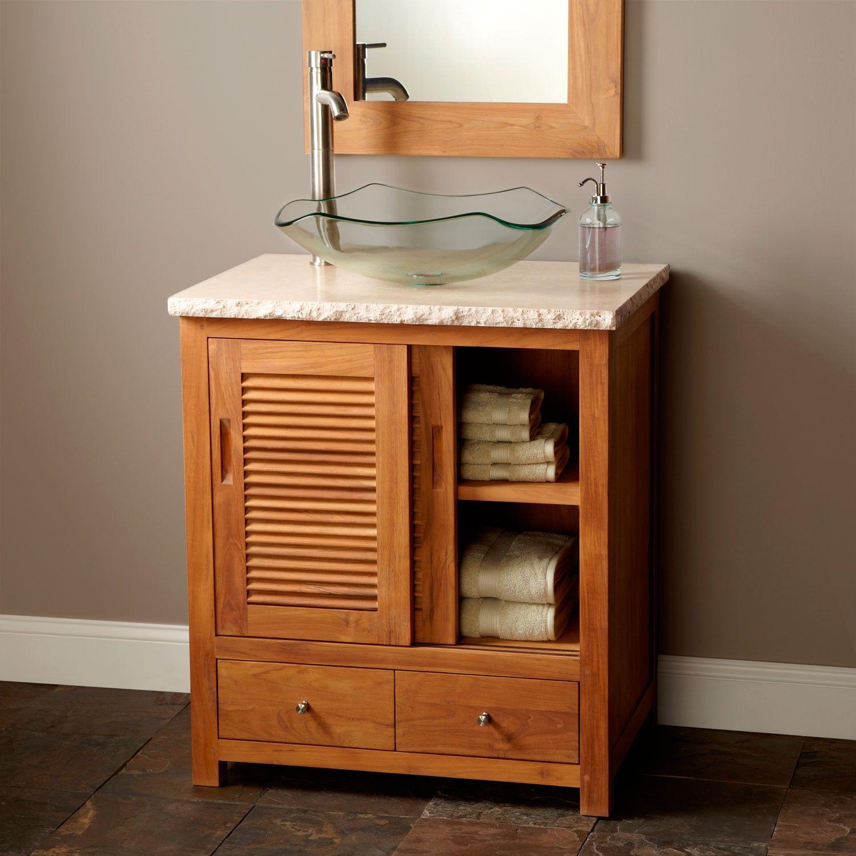30 Arrey Teak Vessel Sink Vanity Bathroom Teak Bathroom Teak Bathroom Vanity Antique Bathroom Vanity