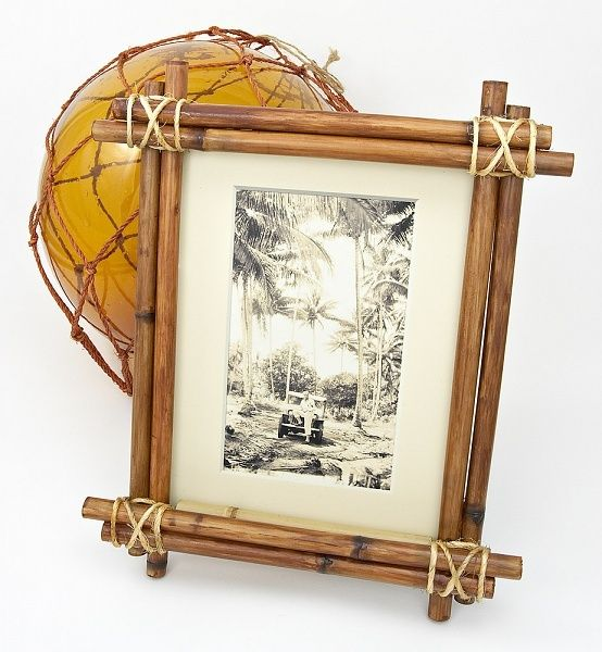 Diy Bamboo Tiki Picture Frame Protractedgardenprotractedgarden Bamboo Diy Bamboo Crafts Bamboo Decor