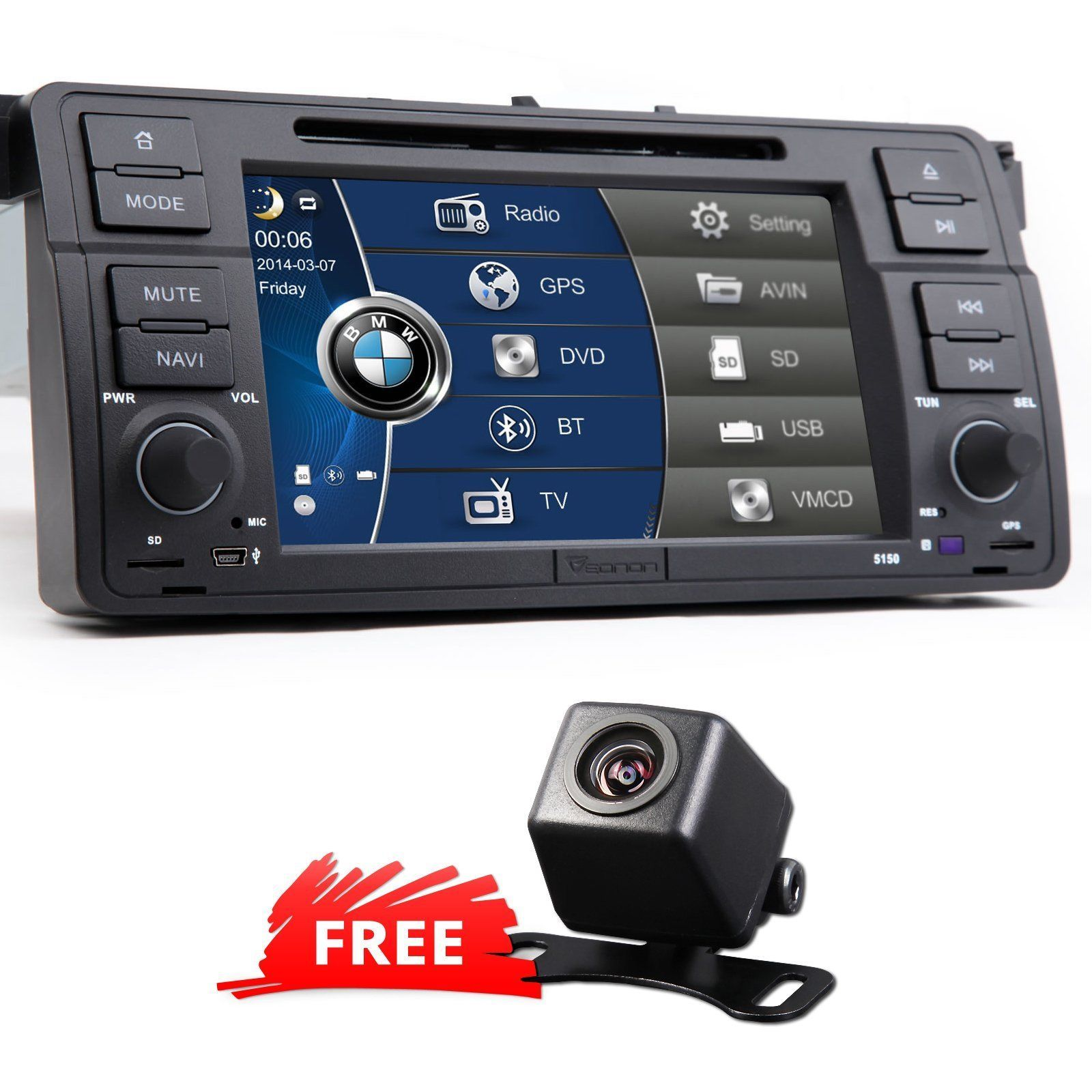 In Dash Car Dvd Player Gps Radio Stereo For Bmw 3 Series E46 7 Touch Screen E