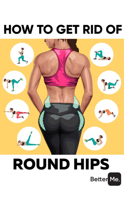 How to get rid from the round hips #pilatesworkoutvideos