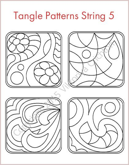 Strings For Drawing Zentangles String Art Template Tangle Pattern Interesting Zentangle Patterns To Print