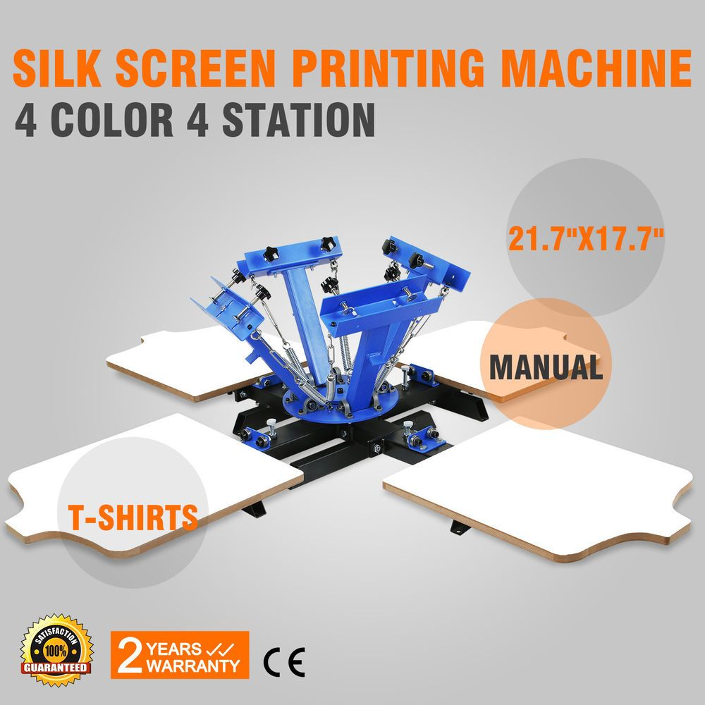 4 Color 4 Station Silk Screen Printing Equipment Manual