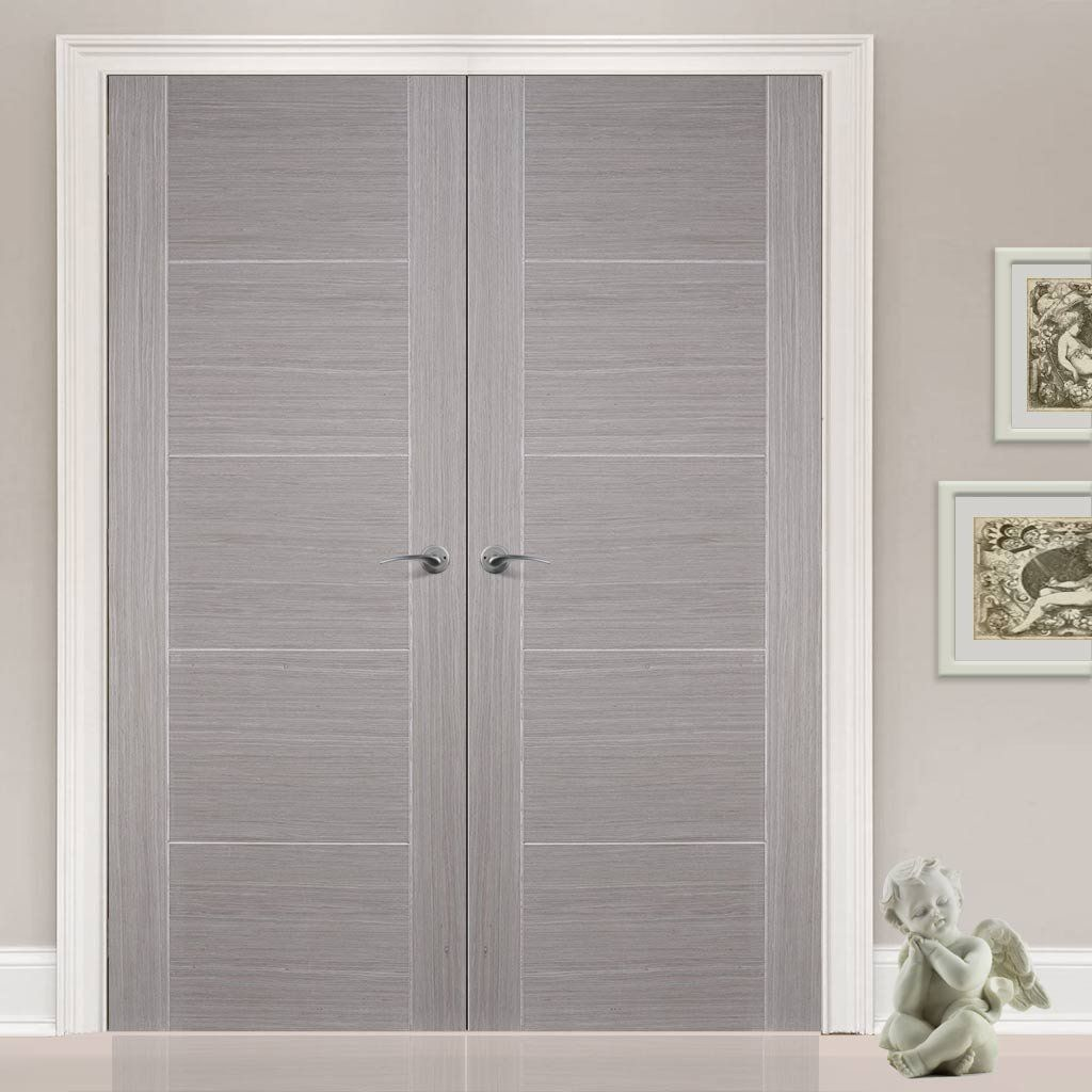 Bespoke Light Grey Vancouver Door Pair - Prefinished  sc 1 st  Pinterest & Bespoke Light Grey Vancouver Door Pair - Prefinished | Bespoke ...