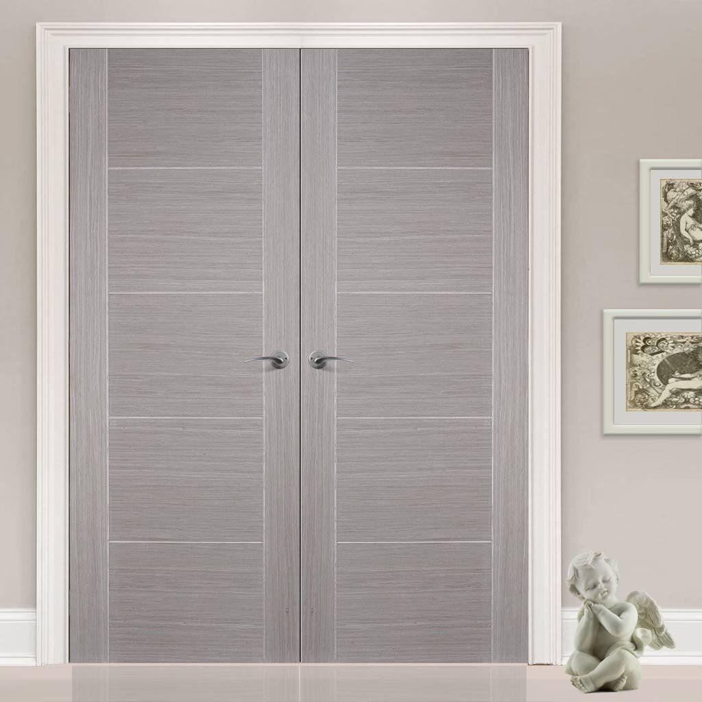 Bespoke Light Grey Vancouver Door Pair - Prefinished  sc 1 st  Pinterest & Bespoke Light Grey Vancouver Door Pair - Prefinished | Doors ...