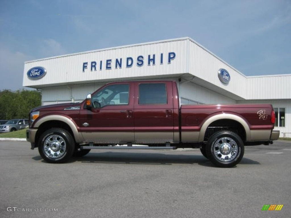2012 Autumn Red Ford F350 Super Duty King Ranch Crew Cab 4x4 53647636 Photo 5 Gtcarlot Com Car Color Galle Ford F350 Super Duty F350 Super Duty Ford F350