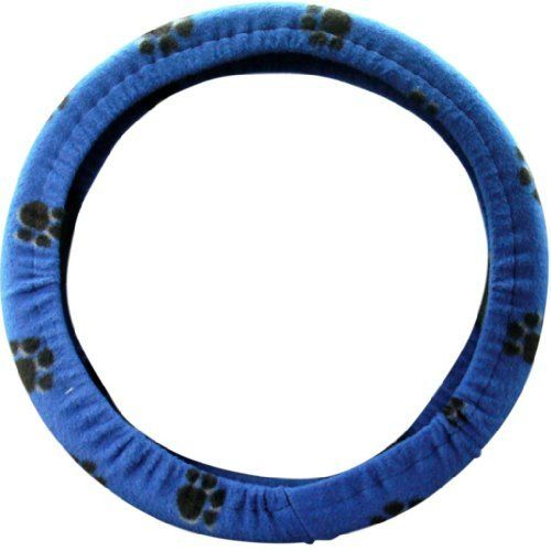 Steering Wheel Cover Store - Dog Paw Prints Royal Blue Black Soft Car Truck Steering Wheel Cover by Steering Wheel Cover Store, http://www.amazon.com/dp/B00EKO9ZSU/ref=cm_sw_r_pi_dp_Fungsb09WPQTB