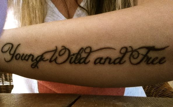 young wild and free tattoo
