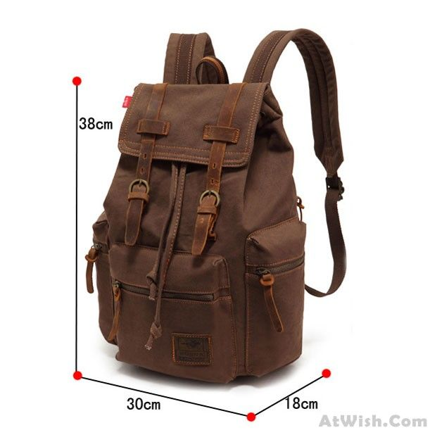 2d21d4a92e Retro Brown Scrub Canvas Backpack only  41.99