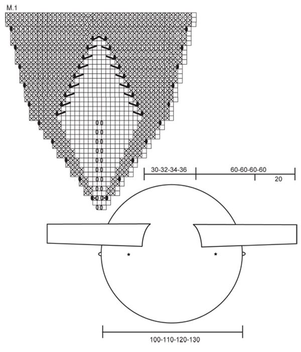 """DROPS 126-1 - Saco DROPS tejido en un círculo en """"Nepal"""", con patrón ..."""