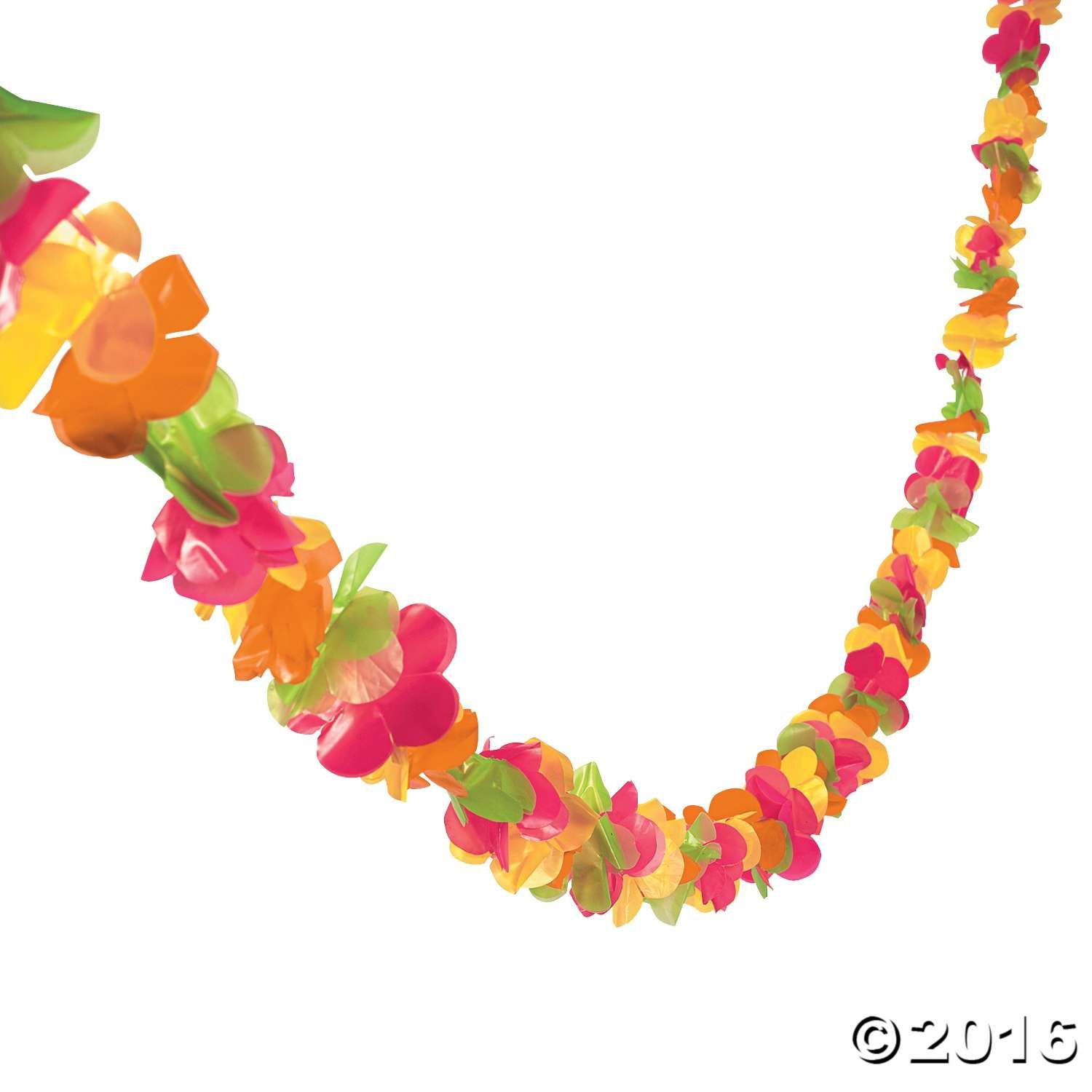 Bright lei garland pinterest luau party luau and party time for a hawaiian touch hang this plastic garland at your next luau party this flower garland is great for decorating decks railings or balconies izmirmasajfo