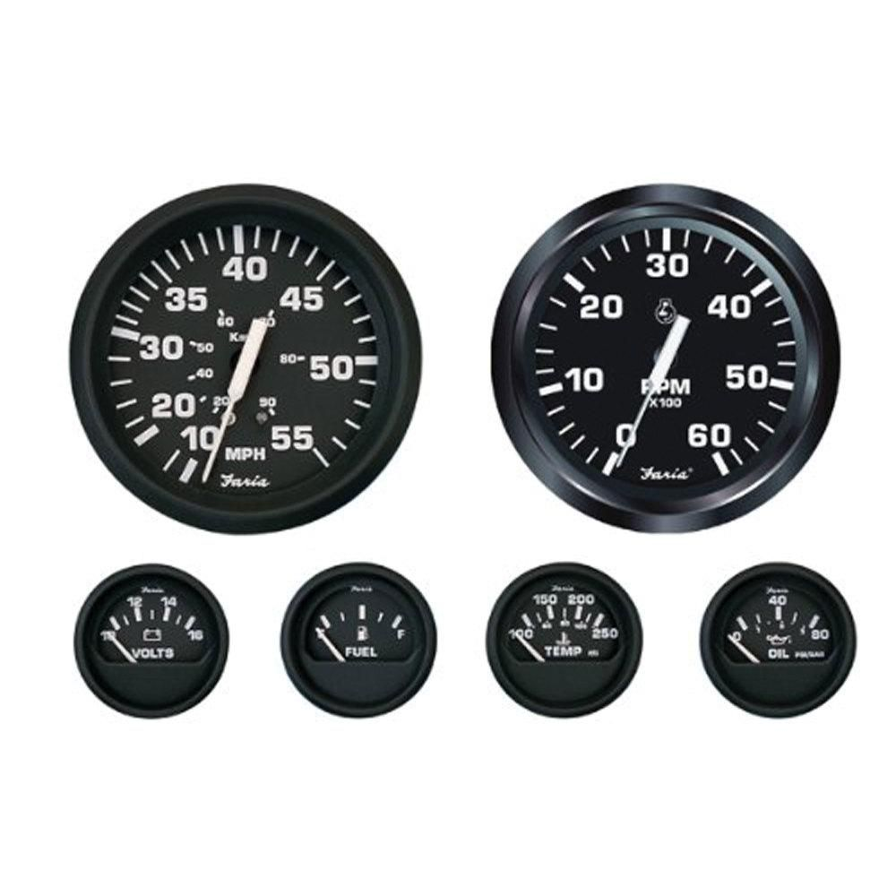 Faria Inboard 6 Gauge Boxed Set In Euro Kt9799 The Home Depot Gauges Tachometer Hitch Accessories