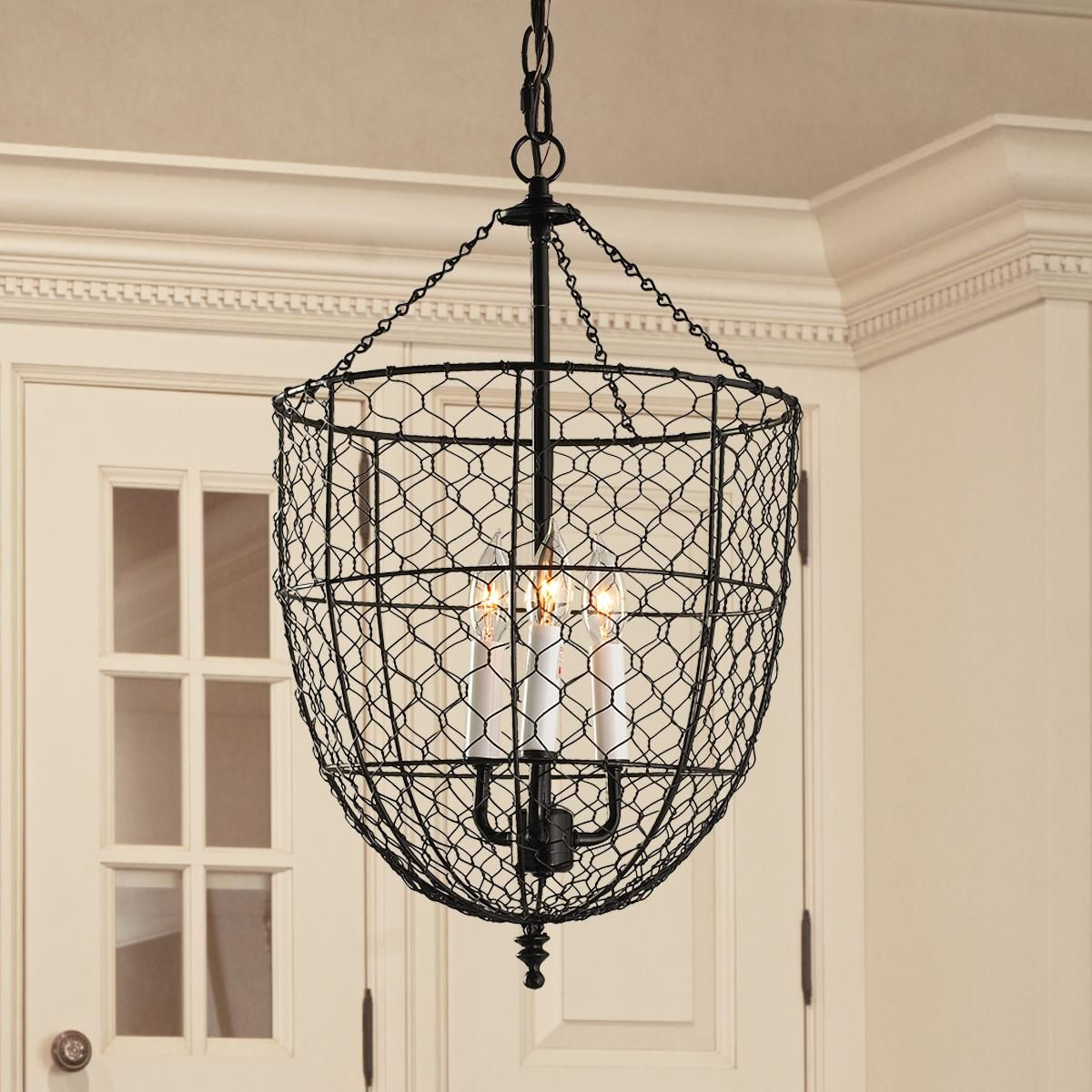 Chicken Wire Smokebell Lantern
