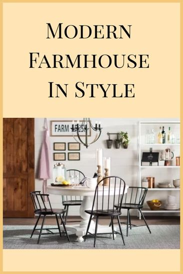 Modern Farmhouse | Kitchen Decor | Dining Decor | Rustic Decor ...