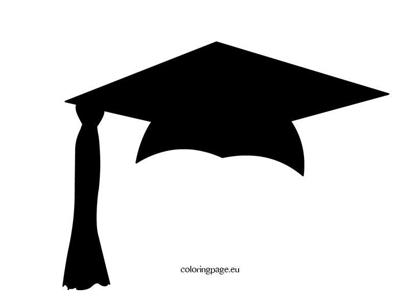 Black Graduation Cap Coloring Page Graduation Clip Art
