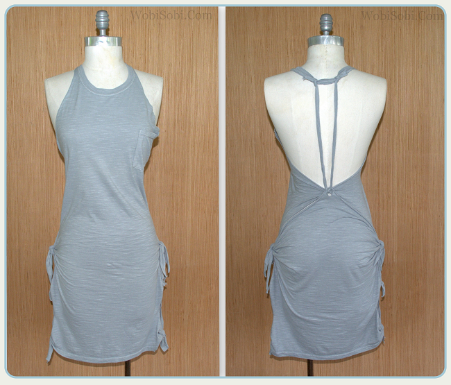 No Sew, Grey, Summer Tee-shirt Dress: DIY.
