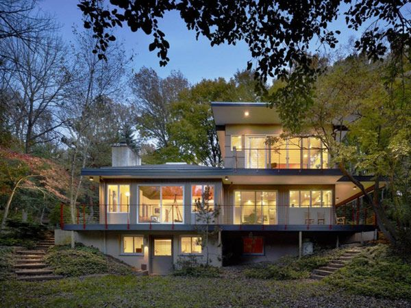 Charming Nestled In A Lush Forest In Pennsylvania: The Seidenberg House Nice Ideas