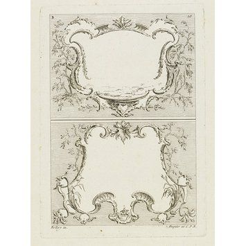Différentes Pensées d'Ornements Arabesques a divers usages. Divisé en deux parties [...] Deuxième Partie  Object: Print  Place of origin: Paris, France (Published)  Date: c. 1734-37 (Published)  Artist/Maker: Bellay (After, Designer)  unknown (Printmaker)  Gabriel Huquier, born 1695 - died 1772 (Publisher)  Museum number: E.860-1905  Gallery location: Prints & Drawings Study Room, level D, case EO, shelf 61, box A