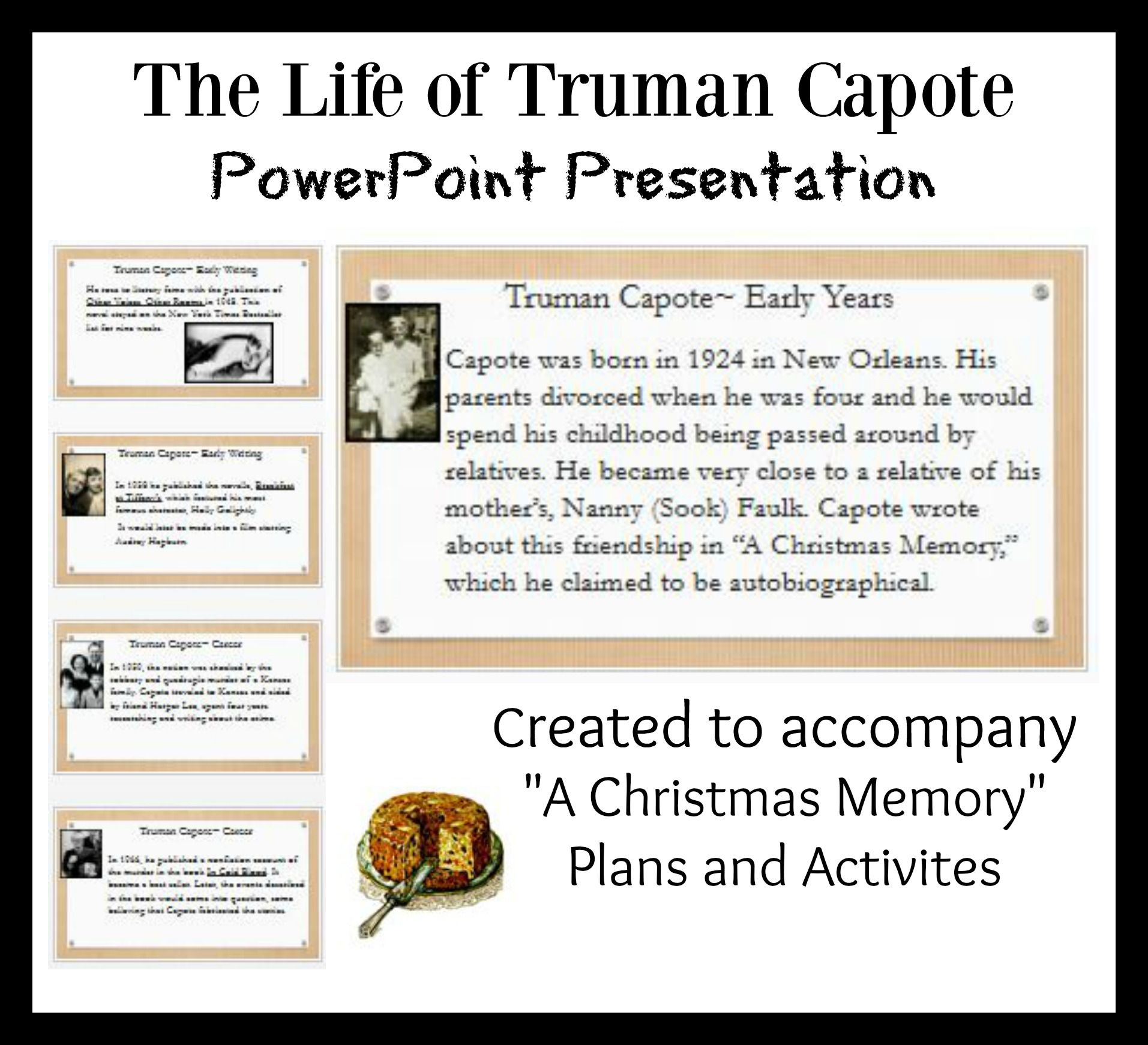 Truman Capote Life and Writings PPT. Free download. | Christmas ...
