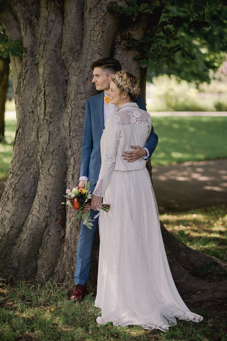 Leather wedding dress  Clissold House u West Reservoir Centre Wedding in London City with a