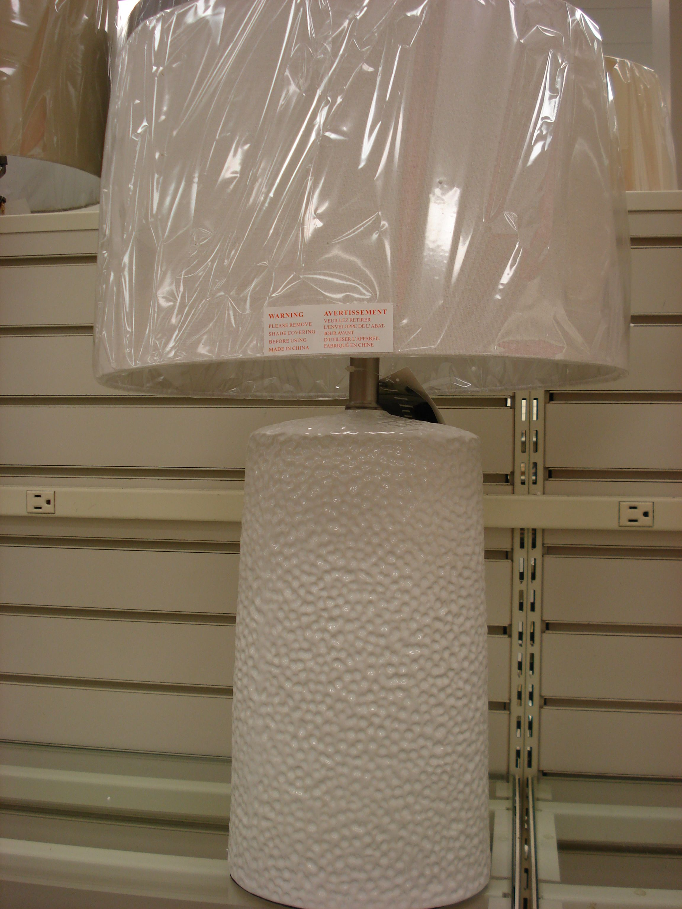 Simple White Pottery Lamp Very Cottagey Winners Homesense