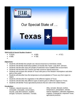Texas Natural Resources Dont Mess With Texas 4th Grade Teks