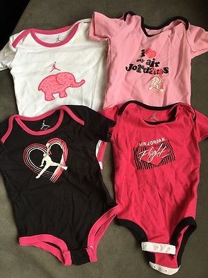 826965f48d38 Details about 4 Air Jordan Baby Girl Body Suits 6 9 Month Pink ...