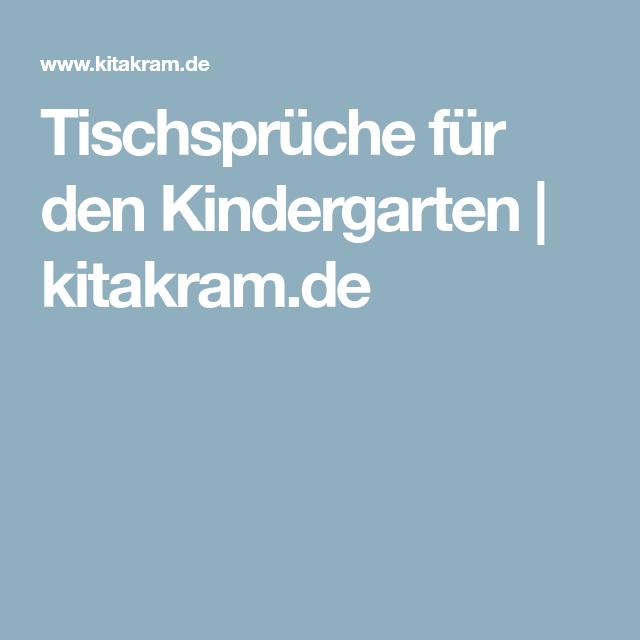 Charmant Tischsprüche Für Den Kindergarten | Kitakram.de