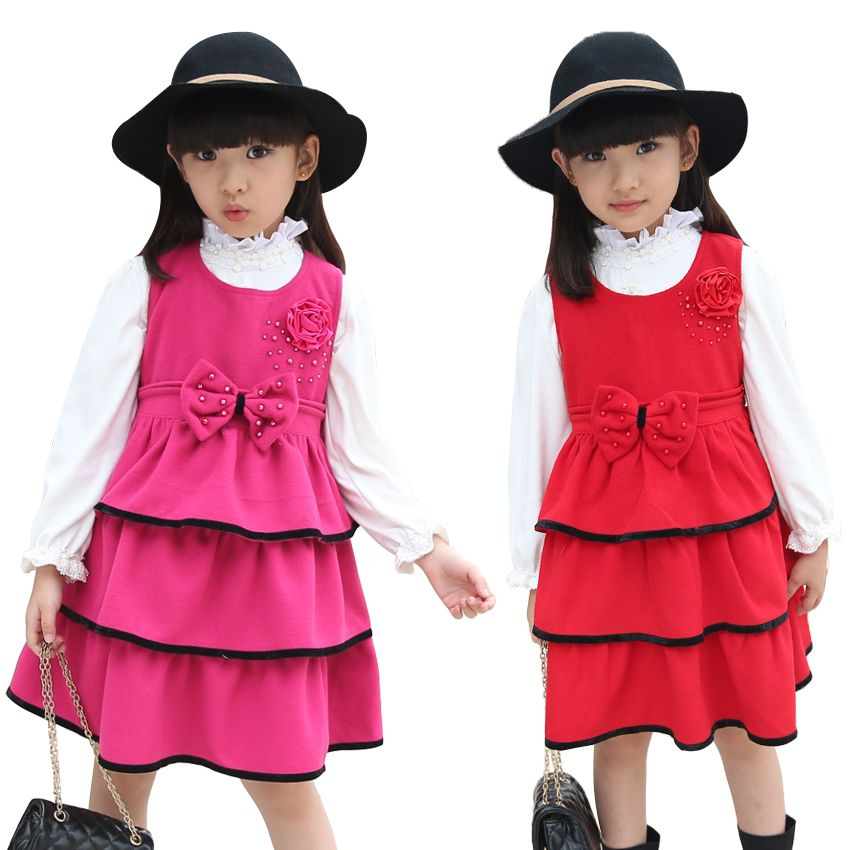 Cheap dress clothes, Buy Quality clothes specials directly from China dresses for little girls Suppliers:             Girls Wool Dresses Autumn Cute Style Children Clothing Girl Sleeveless Dress With Big Bow Christmas Kid