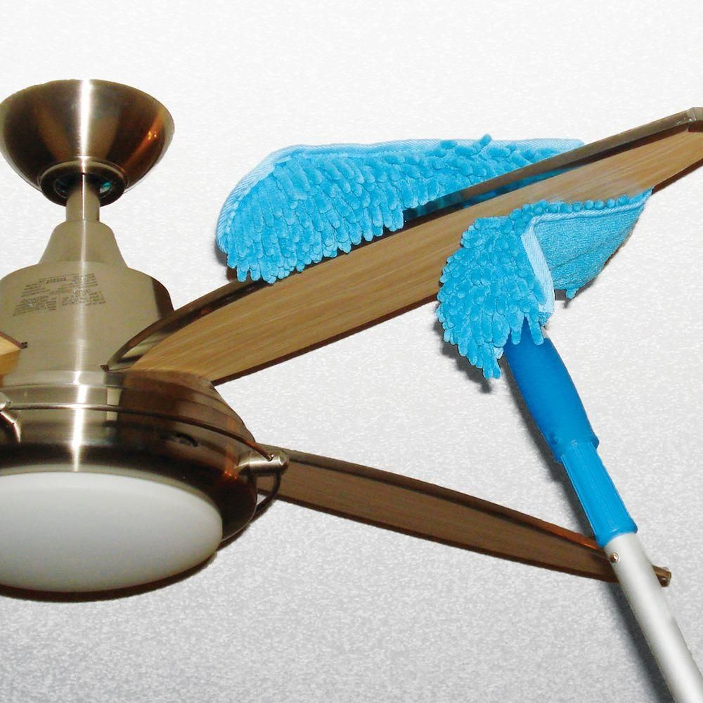 Unger 11 in microfiber ceiling fan duster connect and clean locking this ceiling fan duster is made of microfiber and comes on a 10 in handle mozeypictures Choice Image