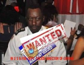 Liberia Warrant Of Arrest In United States For Dept Police Director A B Kromah For Child Spousal Support Default Liberia Police United States