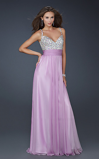 Lavender with Sequin Poly Chiffon Long Prom Dresses Cheap ...