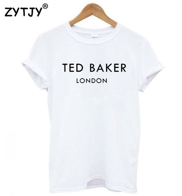 df39d3b806e5 TED BAKER LONDON Letters Print Women tshirt Casual Cotton Hipster Funny t  shirts For Lady Top Tee Drop Ship B-340