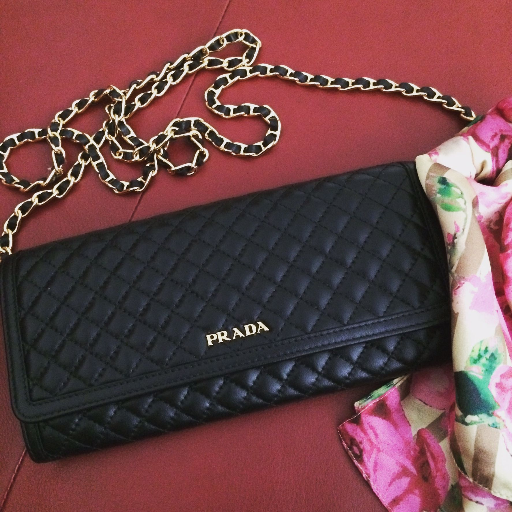 d9935d5653480d Prada quilted wallet on chain | Purses in 2019 | Prada wallet on ...
