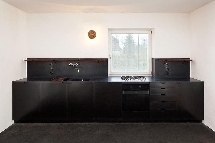 schwarze+K++che-01Kabeljpg 750×500 Pixel Küchen Pinterest - metro fliesen küche
