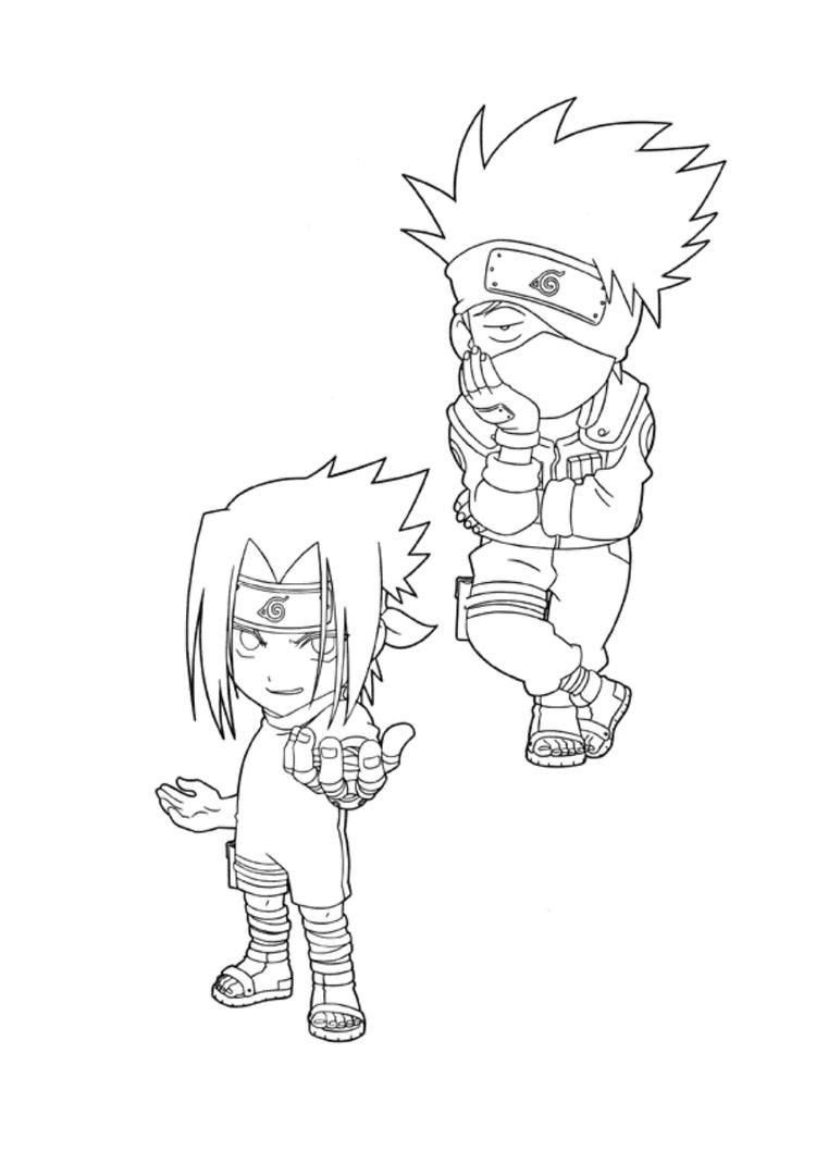 Naruto Coloring Pages Kakashi And Sasuke Coloring Pages Anime Drawings Tutorials Naruto [ 1059 x 750 Pixel ]