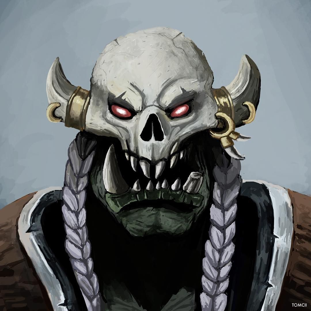 Painting Of An Orc From The Laughing Skull Clan Worldofwarcraft