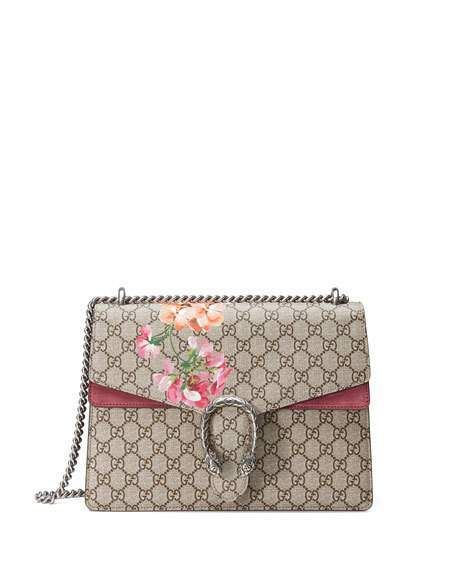 e93bdee18df Gucci Dionysus GG Shoulder Bag Blooms Medium Beige Ebony