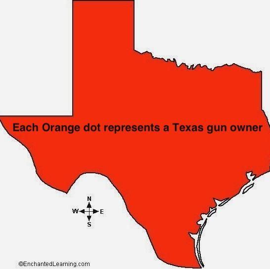 Map Of Texas Meme.Texas Gun Owner Map Wish I Lived In Texas And Not California 2nd