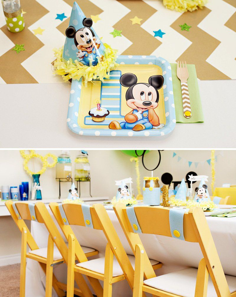 Creative Mickey Mouse 1st Birthday Party Ideas {+ Free Printables ...