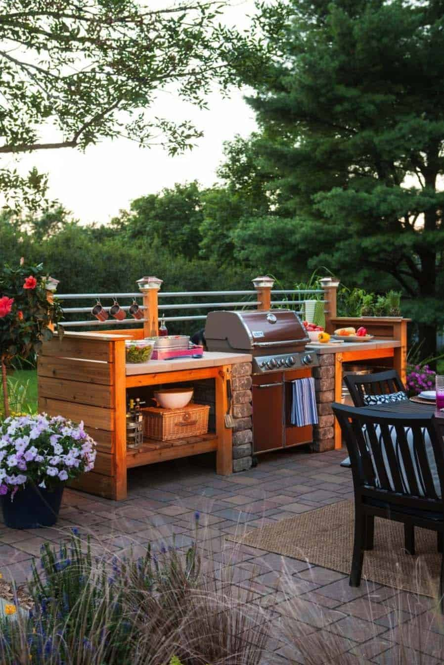38 absolutely fantastic outdoor kitchen ideas for dining al fresco diy outdoor kitchen simple on outdoor kitchen easy id=58895