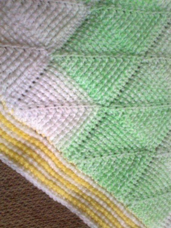Tunisian Crochet Pattern Tunisian Diamond entrelac baby   Crochet ...