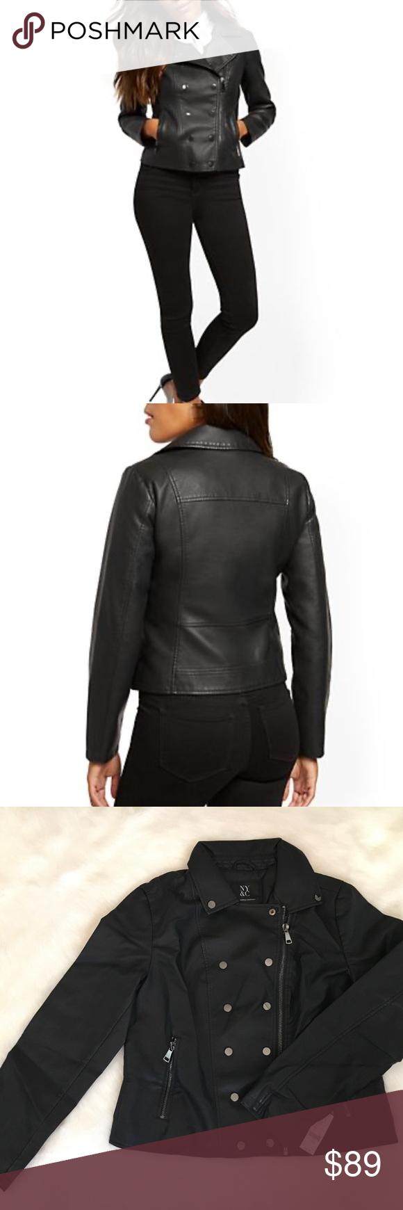 Host Pick🎉 Faux Leather Snap Moto Jacket Jackets, Moto