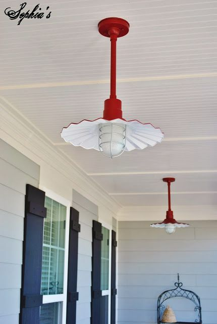 Red Porch Lights   Love! And You Wonu0027t Have Globes To Take Down And Empty  Dead Bug Out Of...yuck