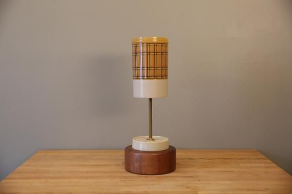 Deconstructed Thermos Lamp / Upcycled Recycled / 70s Mood Lighting / MCM Mid Century Kitchen / Retro