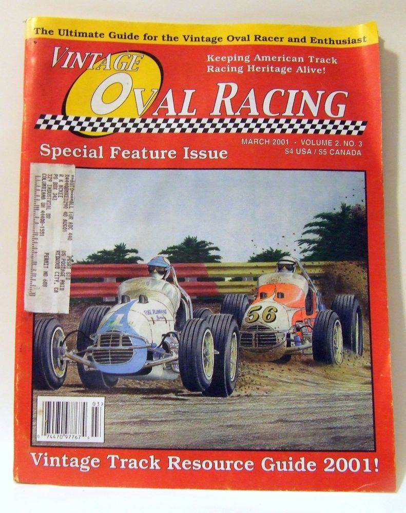 Vintage Oval Racing Magazine March 2001 Dirt Track Sprint Stock ...