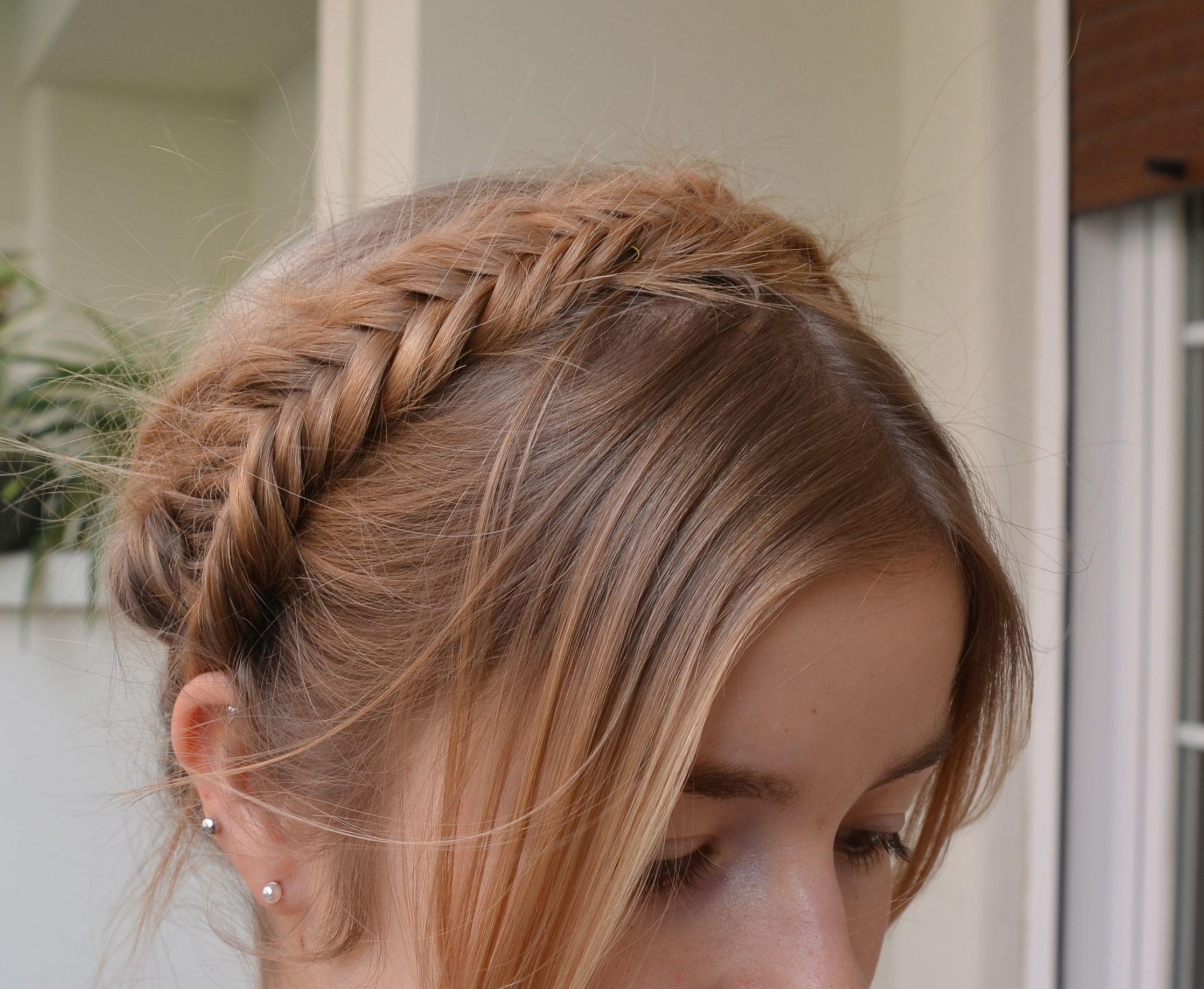 Fishtail milkmaid braid homemade hairstyles pinterest milkmaid